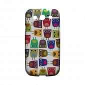Geeks Designer Line (GDL) Owl Series Samsung Galaxy S3 Slim Hard Back Cover - Quadrilateral Owl Configuration