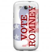Geeks Designer Line (GDL) 2012 Election Series Samsung Galaxy S3 Slim Hard Back Cover - Red/ White/ Blue Romney