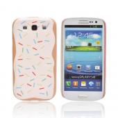 Geeks Designer Line (GDL) Samsung Galaxy S3 Slim Hard Back Cover - Toaster Pastry w/ Sprinkles