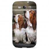 Bassett Hounds Impact Resistant Geeks Designer Line Puppy Series Slim Hard Case for Samsung Galaxy S3