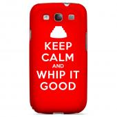 Red Whip It Good Geeks Designer Line Keep Calm Series Slim Hard Case for Samsung Galaxy S3