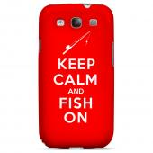 Red Fish On Geeks Designer Line Keep Calm Series Slim Hard Case for Samsung Galaxy S3