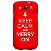 Red Merry On Geeks Designer Line Keep Calm Series Slim Hard Case for Samsung Galaxy S3