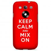 Red Mix On Geeks Designer Line Keep Calm Series Slim Hard Case for Samsung Galaxy S3