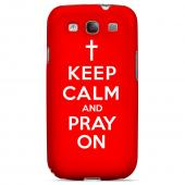 Red Pray On Geeks Designer Line Keep Calm Series Slim Hard Case for Samsung Galaxy S3