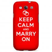 Red Marry On Geeks Designer Line Keep Calm Series Slim Hard Case for Samsung Galaxy S3