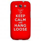 Red Hang Loose Geeks Designer Line Keep Calm Series Slim Hard Case for Samsung Galaxy S3