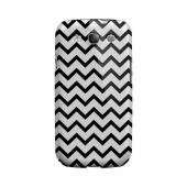 Black on White Geeks Designer Line Zig Zag Series Slim Hard Case for Samsung Galaxy S3