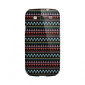 Multi-Shapes & Colors on Black Geeks Designer Line Zig Zag Series Slim Hard Case for Samsung Galaxy S3