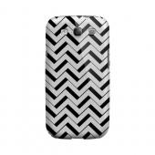 Black/ White 3D Geeks Designer Line Zig Zag Series Slim Hard Case for Samsung Galaxy S3