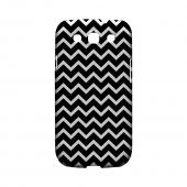 White on Black Geeks Designer Line Zig Zag Series Slim Hard Case for Samsung Galaxy S3