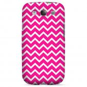 White on Hot Pink Geeks Designer Line Zig Zag Series Slim Hard Case for Samsung Galaxy S3