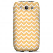 White on Light Orange Geeks Designer Line Zig Zag Series Slim Hard Case for Samsung Galaxy S3