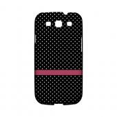 Pink Horizontal Stripe Geeks Designer Line Polka Dot Series Slim Hard Case for Samsung Galaxy S3