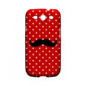 Stache on Red Geeks Designer Line Polka Dot Series Slim Hard Case for Samsung Galaxy S3