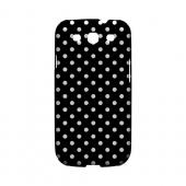 White Dots on Black Geeks Designer Line Polka Dot Series Slim Hard Case for Samsung Galaxy S3