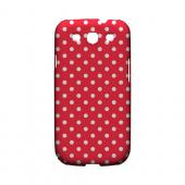 White Dots on Red Geeks Designer Line Polka Dot Series Slim Hard Case for Samsung Galaxy S3