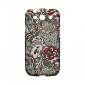 Green/ Red/ Pink Paisley - Geeks Designer Line Floral Series Hard Case for Samsung Galaxy S3