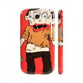 Geeks Designer Line (GDL) Samsung Galaxy S3 Slim Hard Back Cover - Zombie on Red