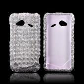 HTC Droid Incredible 4G LTE Bling Hard Case - Silver Gems