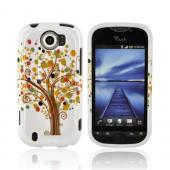 HTC Mytouch 4G Slide Hard Case - Tree Design on White