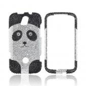 T-Mobile Huawei myTouch Q 2 Bling Hard Case - Silver/ Black Panda