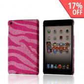 Hot Pink/ Baby Pink Zebra Bling Hard Case for Apple iPad Mini