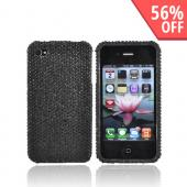 Apple Verizon/ AT&T iPhone 4, iPhone 4S Bling Hard Case - Black