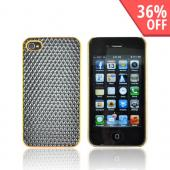 AT&amp;T/ Verizon Apple iPhone 4, iPhone 4S Hard Case - Black Hexagon