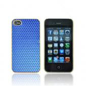 AT&amp;T/ Verizon Apple iPhone 4, iPhone 4S Hard Case - Blue Hexagon