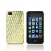 AT&amp;T/ Verizon Apple iPhone 4, iPhone 4S Hard Case - Gold Hexagon