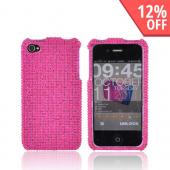 Apple AT&amp;T/ Verizon iPhone 4, iPhone 4S Bling Hard Case w/ Crowbar - Magenta