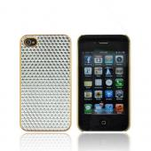 AT&amp;T/ Verizon Apple iPhone 4, iPhone 4S Hard Case - Silver Hexagon