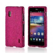 Hot Pink Gems Bling Hard Case for LG Optimus G (AT&T)