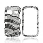 LG Rumor Reflex Bling Hard Case - Black/ White Zebra