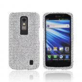 LG Nitro HD Bling Hard Case - Silver Gems