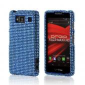 Light Blue Bling Hard Case for Motorola Droid RAZR MAXX HD