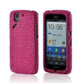 Hot Pink Gems Bling Hard Case for Pantech Flex