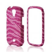 Hot Pink/ Baby Pink Zebra Bling Hard Case for Samsung Stratosphere 2