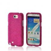 Hot Pink Gems Bling Hard Case for Samsung Galaxy Note 2