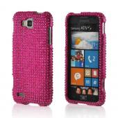 Hot Pink Gems Bling Hard Case for Samsung ATIV S