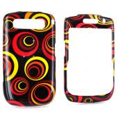 Blackberry Curve 8900 Hard Case - Colorful Groove on Black