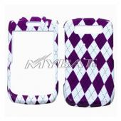 Blackberry Curve 8900 Hard Case - Purple Argyle