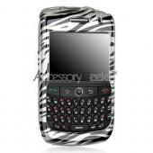 Blackberry Curve 8900 Protective Hard Case - Silver Zebra