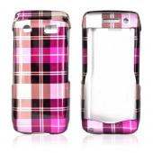 Blackberry Pearl 3G 9100/9105 Hard Case - Plaid Pattern of Hot Pink, Brown, Pink