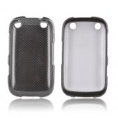 BlackBerry Curve 9310/9320 Hard Case - Black/ Gray Carbon Fiber Design