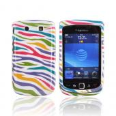 Blackberry Torch 9800 Hard Case - Colorful Zebra on White