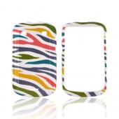 Blackberry Bold 9900, 9930 Hard Case - Rainbow Zebra on White