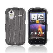 HTC Amaze 4G Rubberized Hard Case - Carbon Fiber