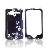 HTC Bee/Wildfire Hard Case - Midnight Flowers on Black